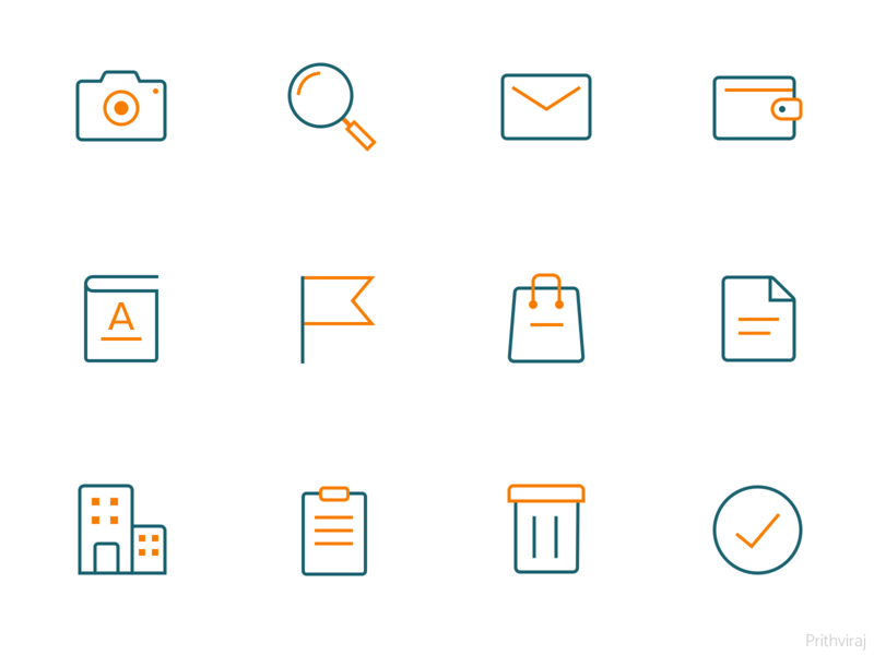 Icons icon design iconography camera flag bag notepad house tick book trash search wallet mail stroke outline stroke icons outlined icons icons icon