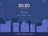 Happy New Year 2020 night scene fireworks material design design new year illustration new year happy new year 2020 new year celebration illustration