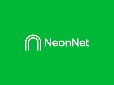 NeonNet logo design branddesigner logos icon geometric brand design logo flat grapgic design design branding