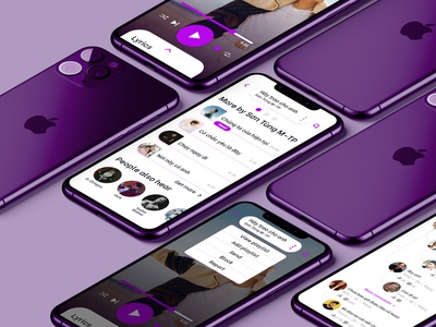 Online music mobile app music app ui community songs singer playlist give it to me son tung mtp zing mp3 spotify mobile app mobile ui ux ui music app design music app music