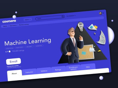 Coursera detail course page enroll data analysis machine learning ux ui design ux ui coure detail course app mooc online course coursera