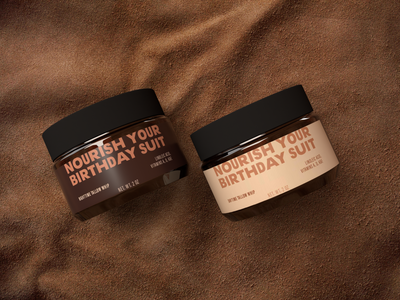 Nourish Your Birthday Suit packaging design genderless natural cosmetics packaging