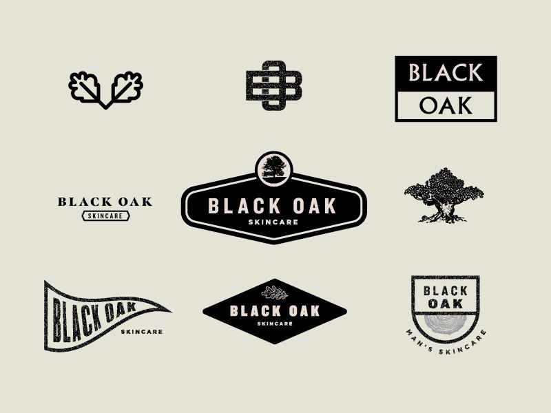 Black Oak Skincare -  Exercises manly skincare cosmetics icon logo