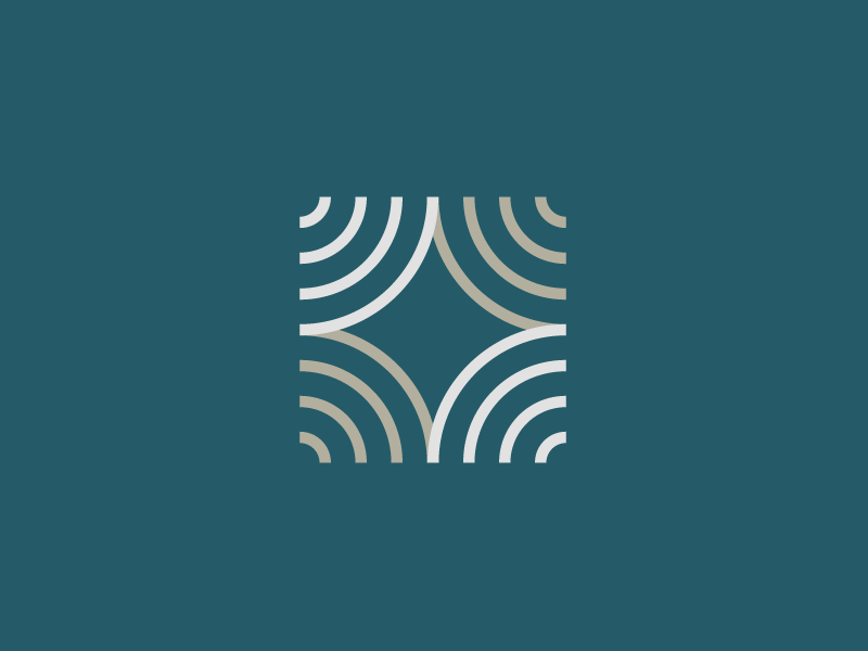 Four Voices clean abstract lines logo