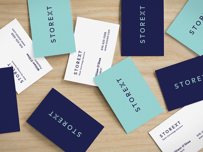 Storext business cards identity logo
