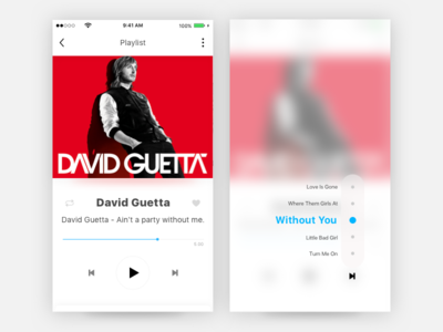 Music App with 3d Touch !