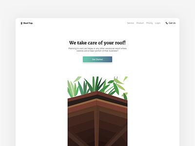 Landing Rooftop minimal conversion website web design illustration roof landing page