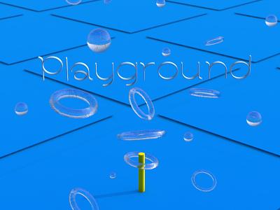 Playground colors infinite geometry minimal abstract simple 3d art 3d digital art digital c4d art c4d playground