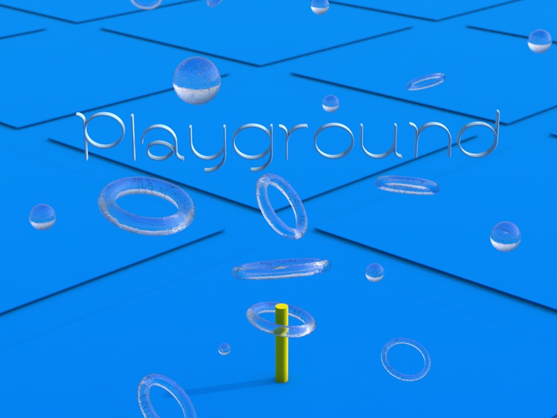 Playground colors infinite geometry minimal abstract simple 3d art 3d digital art digital c4d art c4d playground