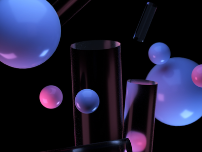Playground - Float exploration digital digital art float falling 80s glass lights shapes geometry 3d art 3d cinema4d design minimal illustration bubbles
