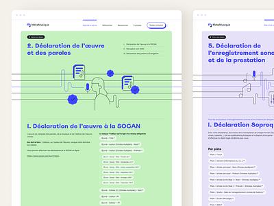 MetaMusique - Content pages content color web design uidesign vectorillustration music meta indexation content pages design ux icons typography illustration minimal ui