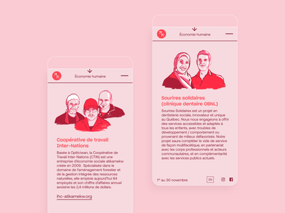 Social economy month portrait illustration people human vector typography template editorial illustration minimal idenity ux mobile ui mobile