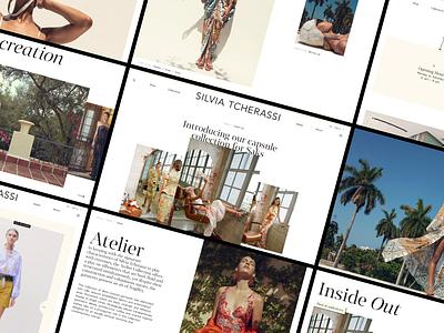 Silvia Tcherassi - ecommerce ui design web design prototype fashion brand fashion design after effects figma animation interaction store products fashion ux ui ecommerce