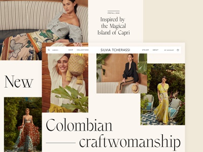 Silvia Tcherassi - Exploration figma sketch colombia latin fashion shopify craft ecommerce fashion web design ui ux exploration