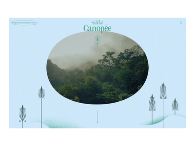 Villa Canopée - Prototype video onepager web design concept prototype animation initial loader interactivity ui design ux ui prototype rental housing