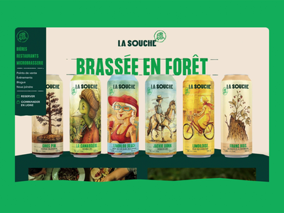 La Souche - Prototype homepage landing page reveal brewery beer website web design design ux ui prototype animation