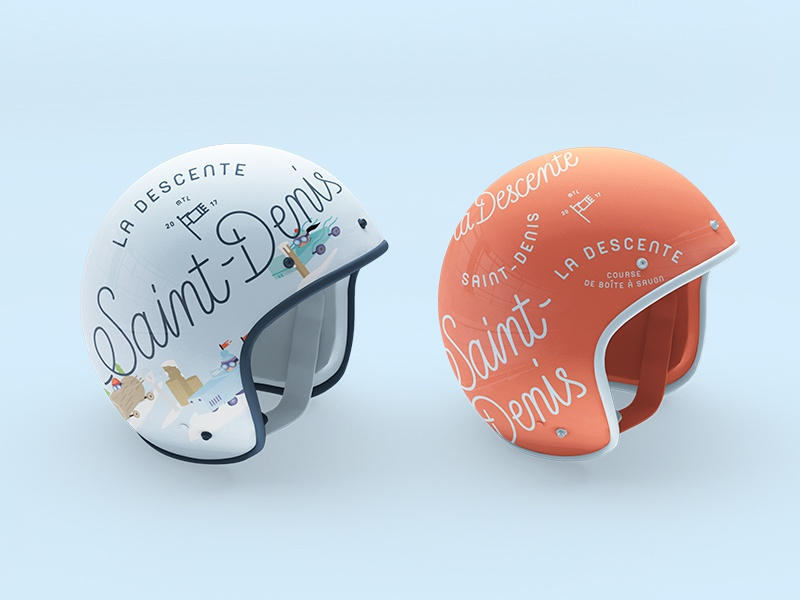 Descente dribbble helmet