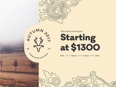 Plethora - Promo topographic map quebec canada hunting trip bear turkey moose deer branding hunting farmland promo