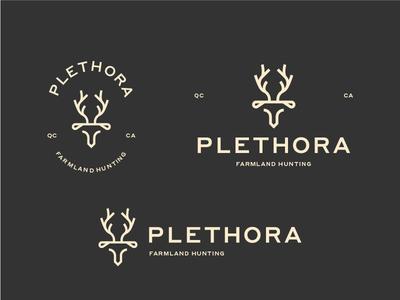 Plethora - Branding prey antlers logo roe topographic map quebec canada hunting trip deer branding hunting farmland
