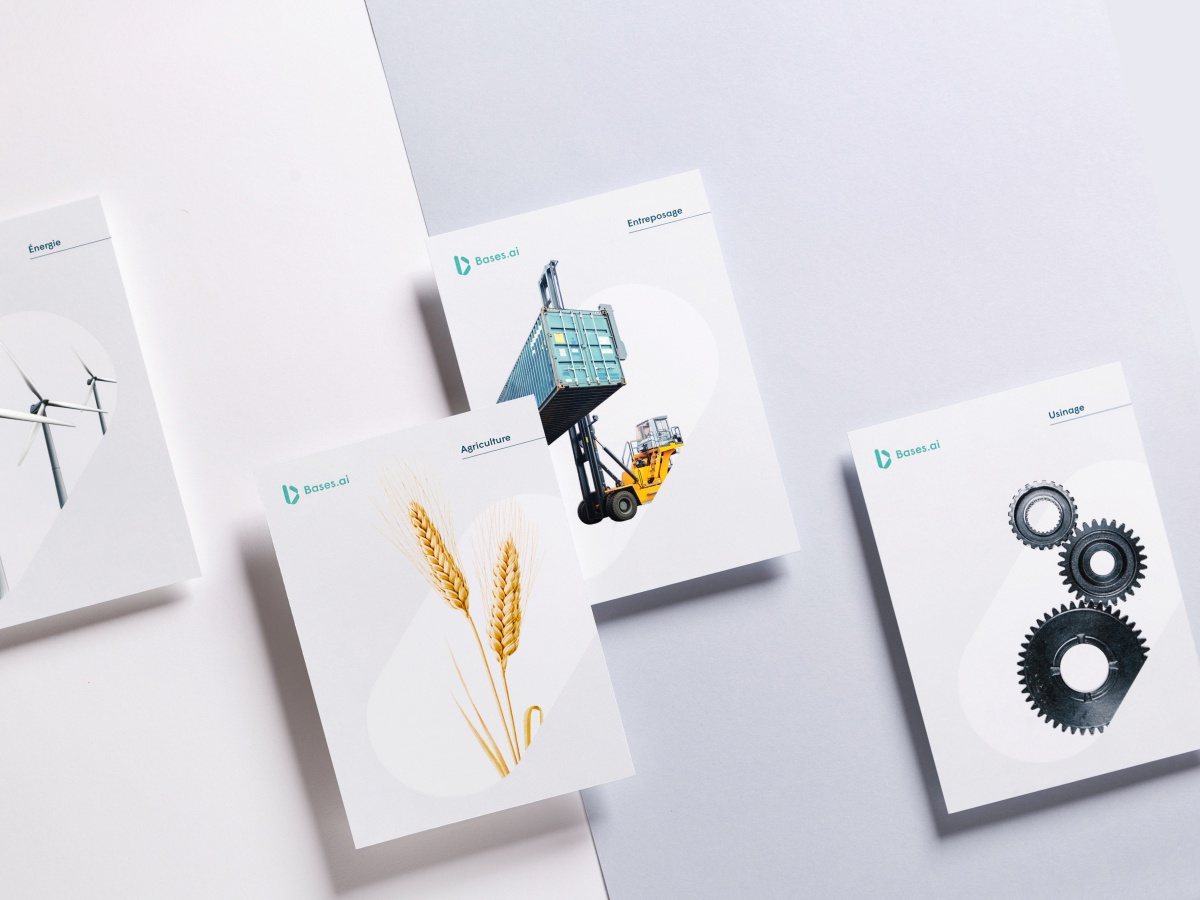 Bases.ai brochure brochure design branding photography industry logo technology tech ai industrial print design brochure