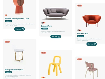 Hoem - Products layout ui design web design ux ui figma craftcms store ecommerce furniture product