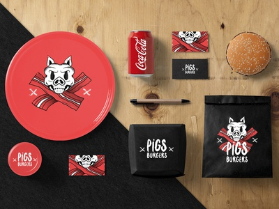 Pigs Burgers stationery