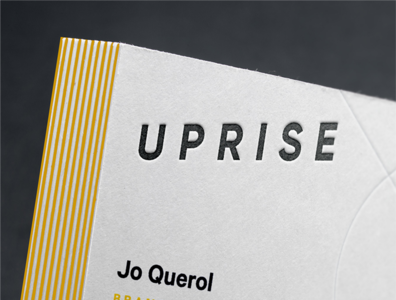 Letterpressed Uprise Logo
