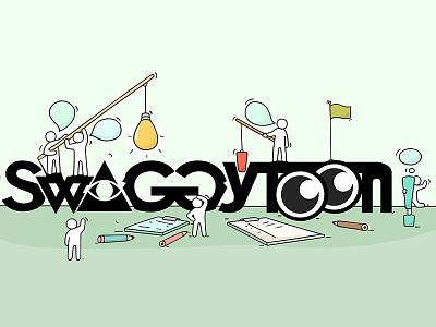 Swaggytoon graphic design. invitation dribbble invitation motion logo vector branding illustration