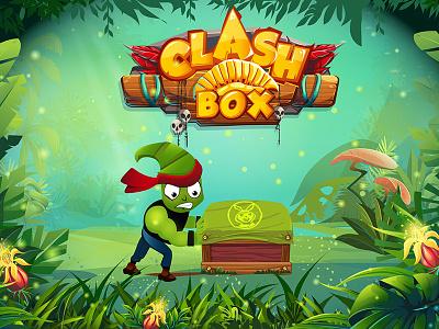Clash Box Game illustration graphic design android game logo splash screen ui game