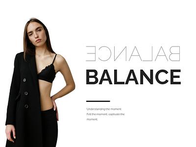 B A L A N C E fashion web design design branding