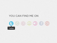 You Can Find Me On - Social Icons