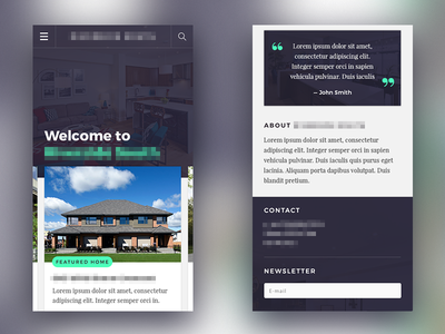 WIP Real Estate Website - Mobile