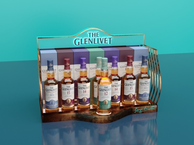 The Glenlivet display concept 3dmax display whiskey and branding glenlivet design 3d