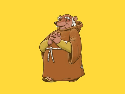 Friar Tuck character design illustration design art friar tuck robin hood disney disney art
