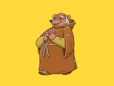 Friar Tuck character design illustration design art friar tuck robin hood disney disney art