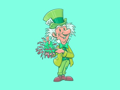 Mad Hatter photoshop character design disney art disney illustration design art alice in wonderland mad hatter