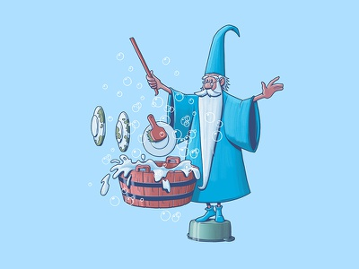 Merlin wizard disney art digitalart photoshop disney design art illustraion sword in the stone merlin