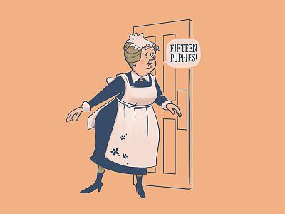 Nanny - 101 Dalmatians nanny character design disney art disney illustration design art 101 dalmations