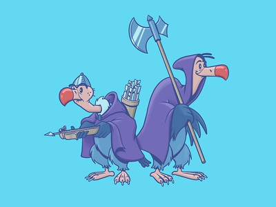 Vultures - Robin Hood digital art animation character design photoshop illustration design art disney art disney robin hood vulture