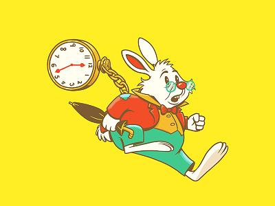 White Rabbit digital art photoshop character design illustration design art disney art disney alice in wonderland white rabbit