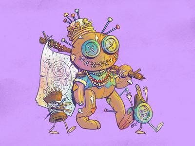 King Voodoo & His Subjects character design photoshop illustration mardi gras louisiana new orleans design art