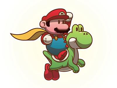 Mario & Yoshi video games nintendo super mario world super mario yoshi mario