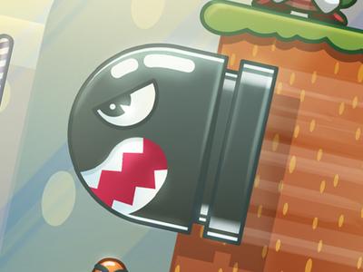 Bullet Bill illustration vector video games nintendo super mario world super mario mario bullet bill