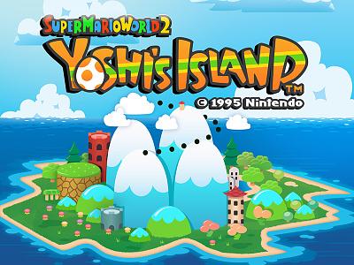 Yoshi's Island super mario mario illustration vector video games yoshi yoshis island nintendo