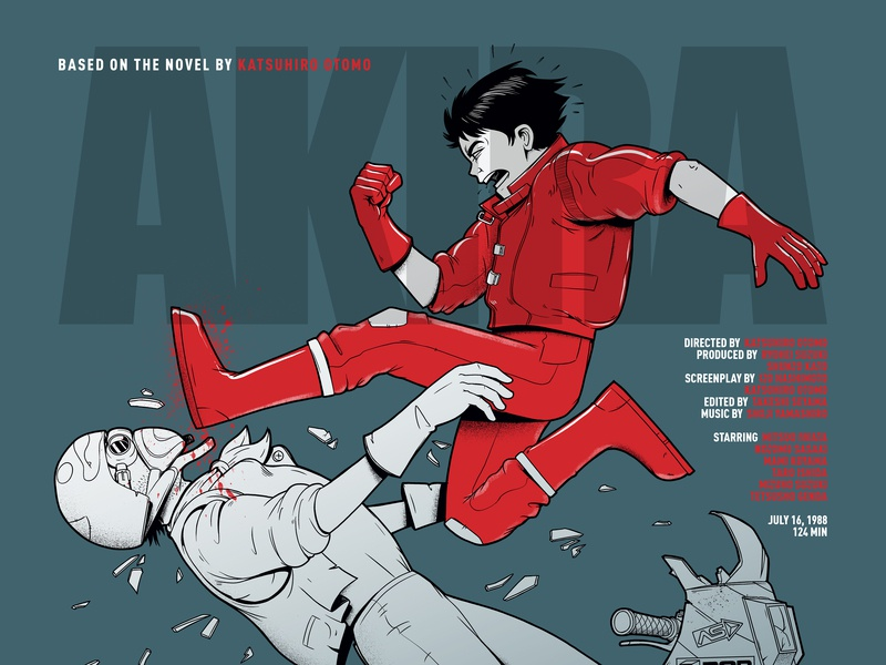 Akira poster animation photoshop akira anime illustration design art