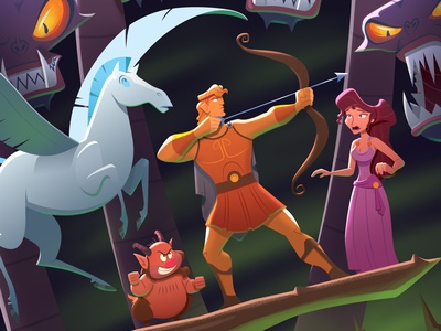 Disney's Hercules myth cartoon animation disney art hercules illustration design