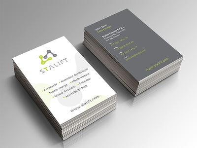 Business card escalator stairs card business