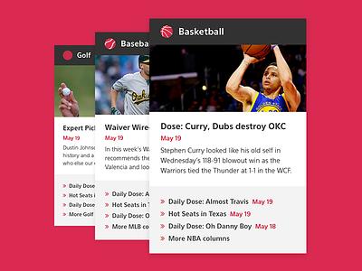 Sports columns deisgn web ui sport basketball nba