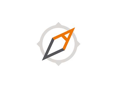 AV Compass identity v a compass mark branding logo av