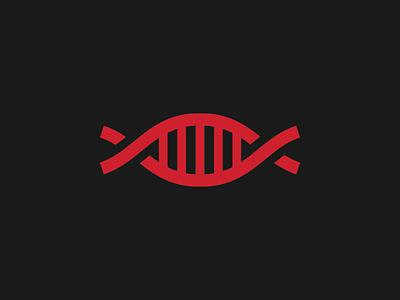 DNA identity mark concept logo dna